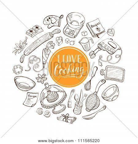 Love cooking poster