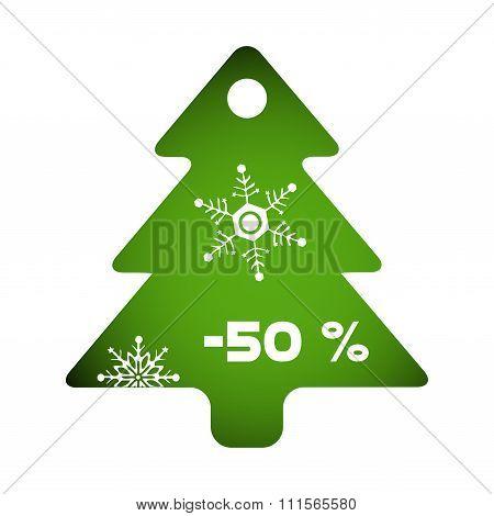 Christmas sale decorative fir tree