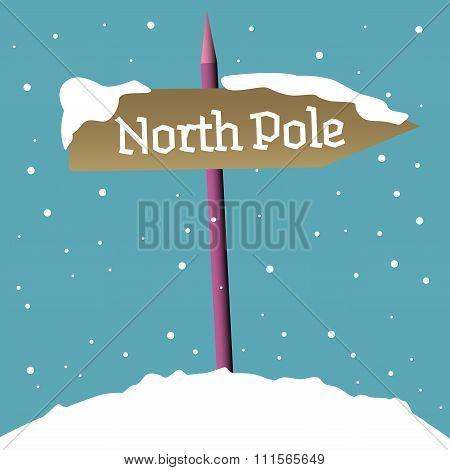 North Pole signpost