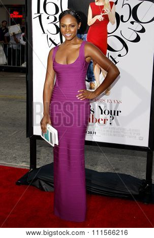 WESTWOOD, CA - SEPTEMBER 19, 2011: Tika Sumpter at the Los Angeles premiere of 'What's Your Number?' held at the Westwood Village Theater in Westwood, USA on September 19, 2011.