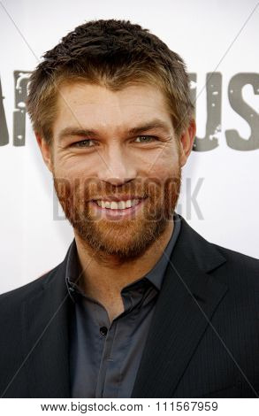 LOS ANGELES, CA - MAY 31, 2012:  Liam McIntyre at the Starz Celebrates the Original Spartacus held at the Leonard Goldenson Theatre in Los Angeles, USA on May 31, 2012.