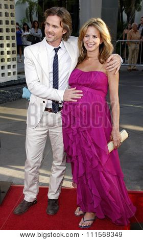 HOLLYWOOD, CA - JUNE 21, 2011: Sam Trammell and Missy Yager at the HBO's season 4 premiere of 'True Blood' held at the ArcLight Cinemas in Hollywood, USA on June 21, 2011.