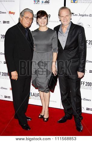 Lluis Homar, Blanca Portillo and Edward James Olmos at the 13th Annual LA Latino International Film Festival Opening Gala held at the Grauman's Chinese Theater in Hollywood, USA on October 11, 2009.
