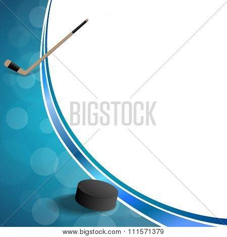Background abstract hockey blue ice puck frame illustration vector