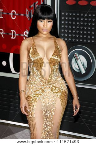 LOS ANGELES, CA - AUGUST 30, 2015: Nicki Minaj at the 2015 MTV Video Music Awards held at the Microsoft Theater in Los Angeles, USA on August 30, 2015.