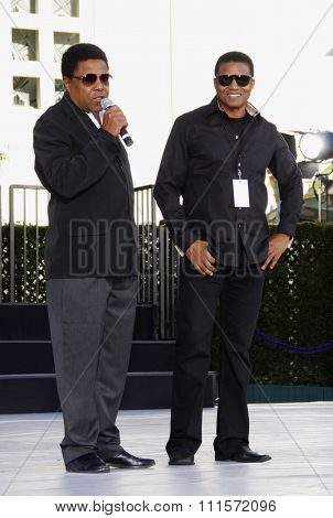 Los Angeles - January 26, 2012. Tito Jackson and Jackie Jackson at the Michael Jackson Hand And Footprint Ceremony held at the Grauman's Chinese Theatre, Los Angeles.