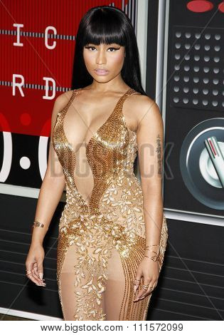 LOS ANGELES, CA - AUGUST 30, 2015: Nicki Minaj at the 2015 MTV Video Music Awards held at the Microsoft Theater in Los Angeles, USA on August 39, 2015.