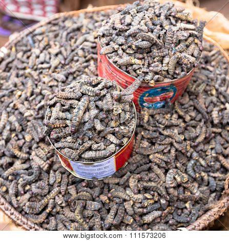 Smoked Silkworms, Burkina Faso