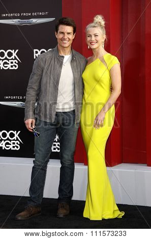 HOLLYWOOD, CA - JUNE 08, 2012: Tom Cruise and Julianne Hough at the Los Angeles premiere of 'Rock of Ages' held at the Grauman's Chinese Theatre in Hollywood, USA on June 8, 2012.