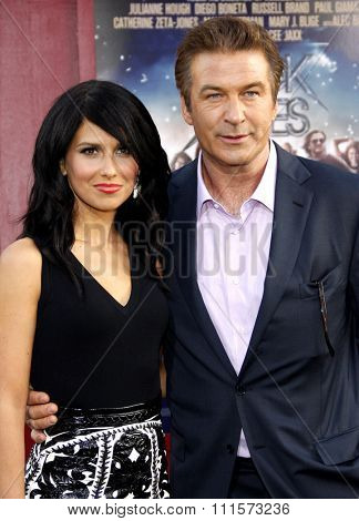 HOLLYWOOD, CA - JUNE 08, 2012: Alec Baldwin and Hilaria Thomas at the Los Angeles premiere of 'Rock of Ages' held at the Grauman's Chinese Theatre in Hollywood, USA on June 8, 2012.