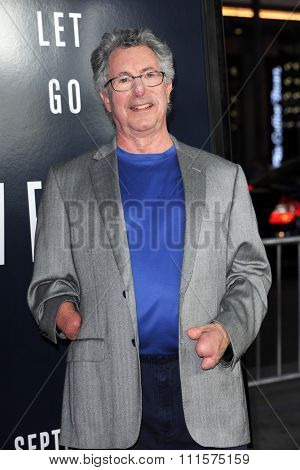 HOLLYWOOD, CA - SEPTEMBER 09, 2015: Beck Weathers at the Los Angeles premiere of 'Everest' held at TCL Chinese Theater in Hollywood, USA on September 9, 2015.