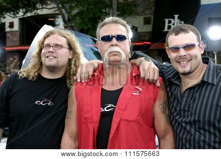 WESTWOOD, CA - JULY 07, 2004: Mike Teutul, Paul Teutul Jr., and Paul Teutul Sr. at the World premiere of 'I, Robot' held at the Mann Village Theatre in Westwood, USA on July 7, 2004.