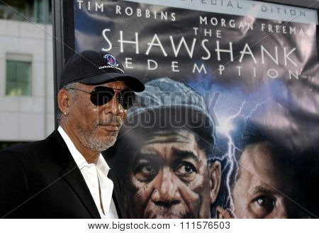 BEVERLY HILLS, CA - SEPTEMBER 23, 2004: Morgan Freeman at the 10th Anniversary Screening of 'The Shawshank Redemption' held at the AMPAS in Beverly Hills, USA on September 23, 2004.