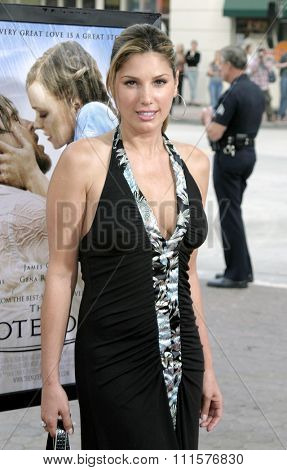 WESTWOOD, CA - JUNE 21, 2004: Daisy Fuentes at the Los Angeles premiere of 'The Notebook' held at the Mann Village Theatre in Westwood, USA on June 21, 2004.