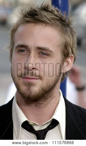 WESTWOOD, CA - JUNE 21, 2004: Ryan Gosling at the Los Angeles premiere of 'The Notebook' held at the Mann Village Theatre in Westwood, USA on June 21, 2004.
