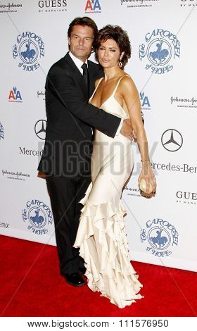 BEVERLY HILLS, CA - OCTOBER 25, 2008: Lisa Rinna and Harry Hamlin at the 30th Anniversary Carousel Of Hope Ball held at the Beverly Hilton Hotel in Beverly Hills, USA on October 25, 2008.