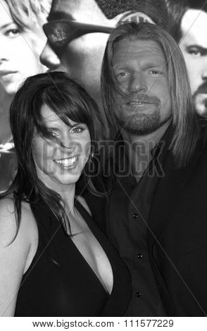 HOLLYWOOD, CA - DECEMBER 07, 2004: Triple H at the Los Angeles premiere of 'Blade: Trinity' held at the Grauman's Chinese Theater in Hollywood, USA on December 7, 2004.