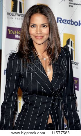BEVERLY HILLS, CA - OCTOBER 24, 2005: Halle Berry at the 2005 Hollywood Film Festival Awards Gala Ceremony held at the Beverly Hilton Hotel in Beverly Hills, USA on October 24, 2005.