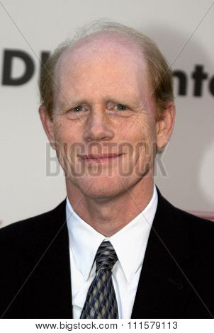 Ron Howard at the 75th Diamond Jubilee Celebration for the USC School of Cinema-Television held at the USC's Bovard Auditorium in Los Angeles, USA on September 26, 2004.