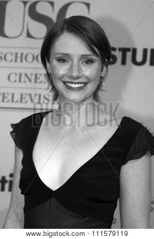 Bryce Dallas Howard at the 75th Diamond Jubilee Celebration for the USC School of Cinema-Television held at the USC's Bovard Auditorium in Los Angeles, USA on September 26, 2004.