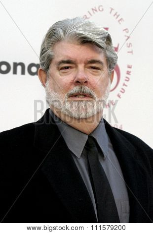 George Lucas at the 75th Diamond Jubilee Celebration for the USC School of Cinema-Television held at the USC's Bovard Auditorium in Los Angeles, USA on September 26, 2004.