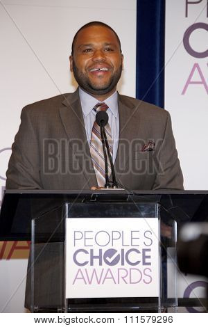 BEVERLY HILLS, CA - NOVEMBER 15, 2012: Anthony Anderson at the People's Choice Awards 2013 Nominations held at the Paley Center in Beverly Hills, USA on November 15, 2012.