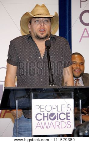 BEVERLY HILLS, CA - NOVEMBER 15, 2012: Jason Aldean at the People's Choice Awards 2013 Nominations held at the Paley Center in Beverly Hills, USA on November 15, 2012.