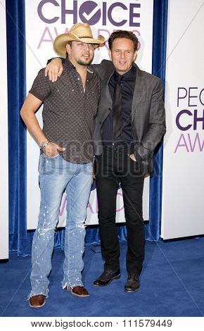 BEVERLY HILLS, CA - NOVEMBER 15, 2012: Jason Aldean and Mark Burnett at the People's Choice Awards 2013 Nominations held at the Paley Center in Beverly Hills, USA on November 15, 2012.