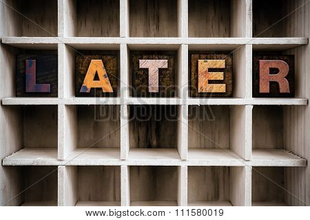 Later Concept Wooden Letterpress Type In Drawer
