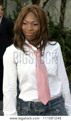 HOLLYWOOD, CA - JULY 15, 2004: Serena Williams at the World premiere of 'The Bourne Supremacy' held at the ArcLight Cinema in Hollywood, USA on July 15, 2004.