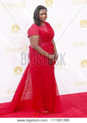 LOS ANGELES, CA - AUGUST 25, 2014: Octavia Spencer at the 66th Annual Primetime Emmy Awards held at the Nokia Theatre L.A. Live in Los Angeles, USA on August 25, 2014.