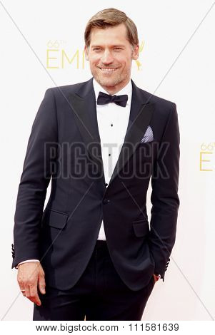 LOS ANGELES, CA - AUGUST 25, 2014: Nikolaj Coster-Waldau at the 66th Annual Primetime Emmy Awards held at the Nokia Theatre L.A. Live in Los Angeles, USA on August 25, 2014.
