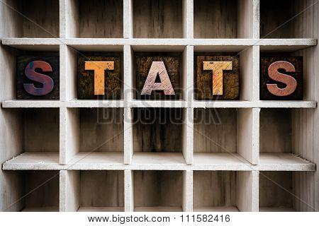 Stats Concept Wooden Letterpress Type In Drawer