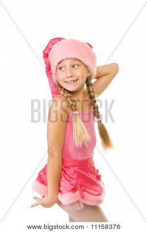 Portrait of a happy little Christmas girl