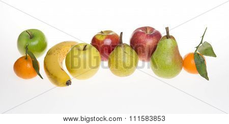 Beautiful Fruits Isolated On White - Autum Fruits