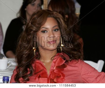 LOS ANGELES, CA - NOVEMBER 15, 2005: Beyonce Knowles at the 2005 World Children's Day at the Ronald McDonald House in Los Angeles, USA on November 15, 2005.