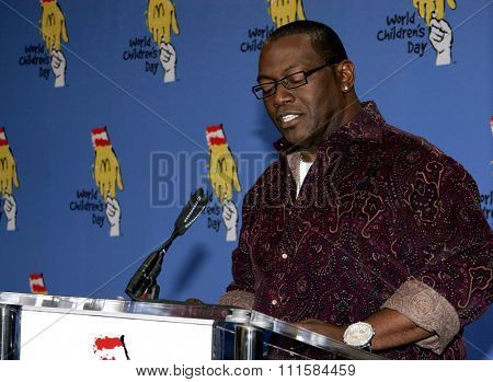 LOS ANGELES, CA - NOVEMBER 15, 2005: Randy Jackson at the 2005 World Children's Day at the Ronald McDonald House in Los Angeles, USA on November 15, 2005.