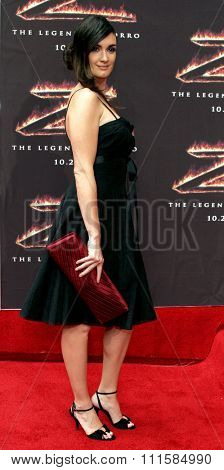 LOS ANGELES, CA - OCTOBER 16, 2005: Paz Vega at the Los Angeles premiere of 'The Legend of Zorro' held at the Orpheum Theater in Los Angeles, USA on October 16, 2005.