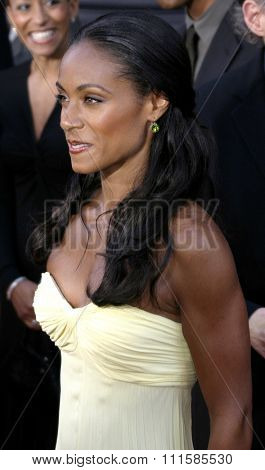 2 August 2004 - Los Angeles, California - Jada Pinkett-Smith. The World Premiere of 'Collateral' at the Orpheum Theatre in downtown Los Angeles.