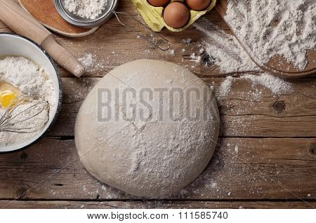 Raw Loaf Of Bread