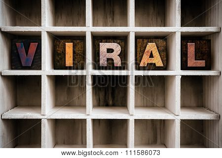 Viral Concept Wooden Letterpress Type In Drawer