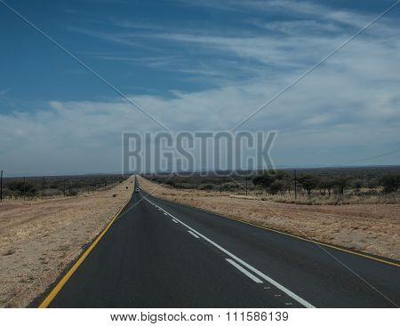 Road from Windhoek towards Etosha National Park