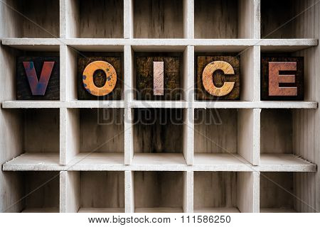 Voice Concept Wooden Letterpress Type In Drawer