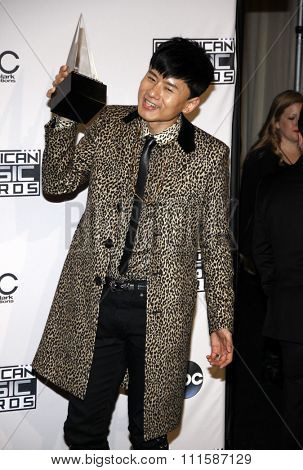 LOS ANGELES, CA - NOVEMBER 23, 2014: Jason Zhang Jie at the 2014 American Music Awards held at the Nokia Theatre L.A. Live in Los Angeles on November 23, 2014.