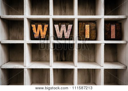 Wwii Concept Wooden Letterpress Type In Drawer