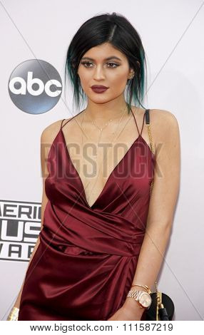 LOS ANGELES, CA - NOVEMBER 23, 2014: Kylie Jenner at the 2014 American Music Awards held at the Nokia Theatre L.A. Live in Los Angeles on November 23, 2014.