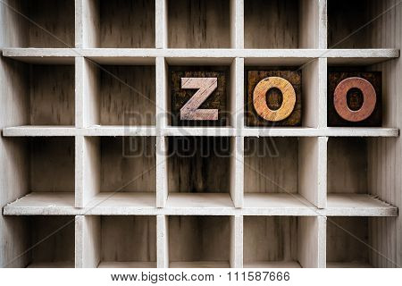 Zoo Concept Wooden Letterpress Type In Drawer