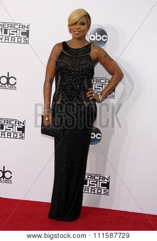 LOS ANGELES, CA - NOVEMBER 23, 2014: Mary J, Blige at the 2014 American Music Awards held at the Nokia Theatre L.A. Live in Los Angeles on November 23, 2014.