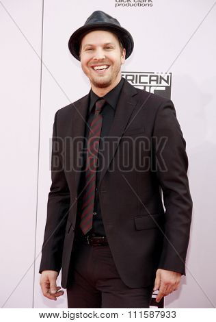 LOS ANGELES, CA - NOVEMBER 23, 2014: Gavin DeGraw at the 2014 American Music Awards held at the Nokia Theatre L.A. Live in Los Angeles on November 23, 2014.