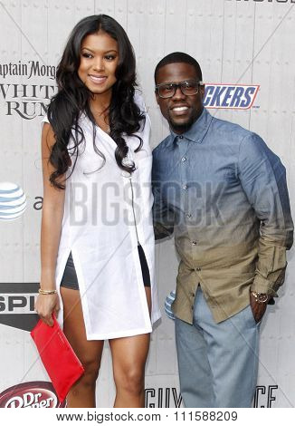 CULVER CITY, CA - JUNE 07, 2014: Eniko Parrish and Kevin Hart at the Spike TV's